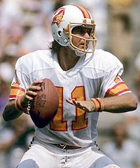 Before he was the ol' ball coach he was the Bucs QB Steve Spurrier