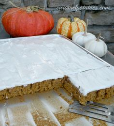 Pumpkin Bars with Cream Cheese Frosting- absolutely the best fall dessert!