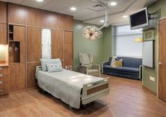 Standardized, same-handed rooms provide caregivers with all the supplies they need. Community Hospital in McCook, Nebraska. Photos courtesy of HDR Architecture, Inc.; © 2011 Tom Kessler.