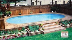 Having a pool sounds awesome especially if you are working with the best backyard pool landscaping ideas there is. How you design a proper backyard with a pool matters. Above Ground Pool Landscaping, Backyard Pool Landscaping, Backyard Pool Designs, Pool For Small Backyard, Small Pool Ideas, Oberirdische Pools, Semi Inground Pools, Lap Pools, Pool Spa