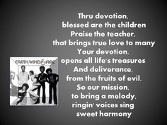 'DEVOTION' According to the elements of the universe, EWF!