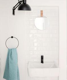 Towel hanger by Ferm Living Black Towels, Bathroom Accessories Luxury, Towel Hanger, Contemporary, Design, Home Decor, Interior Design, Design Comics, Home Interior Design