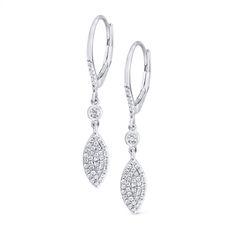 14K Diamond Fashion Dangler Earrings