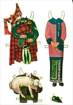 Around the world Paper dolls 1964 or 1971 m - Bobe - Picasa Web Albums Diy Paper, Paper Art, Paper Crafts, Free Paper, Vintage Playmates, Art Rules, Costumes Around The World, Elves And Fairies, Bobe