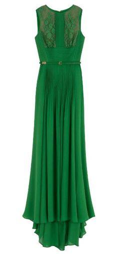emerald lace cutout maxi dress
