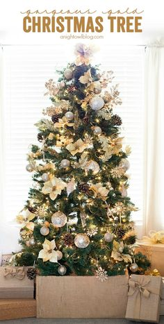 What a gorgeous Gold Christmas Tree! Love all the details. From MichaelsMakers A Night Owl Blog