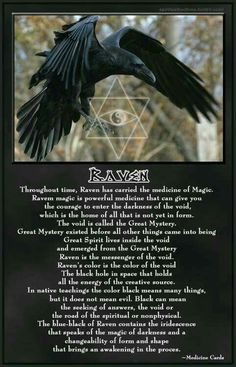 culture of Wicca and Pagan community Magick, Witchcraft, Animal Spirit Guides, Raven Spirit Animal, Quoth The Raven, Crows Ravens, Greatest Mysteries, Animal Totems, Book Of Shadows