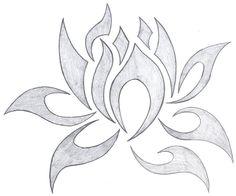 tribal lotus by fallensamurai22