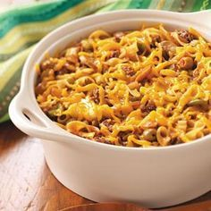 Kodiak Casserole is good with any ground meat from pork to deer