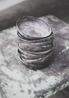 Old handmade mini bowls. Bols de repostería