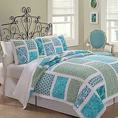Belfast Quilt Set - jcpenney. Like the color layout. Would be easy to make.