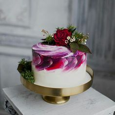 Ideas For Cupcakes Wedding Ideas Purple Gorgeous Cakes, Pretty Cakes, Cute Cakes, Amazing Cakes, Mini Cakes, Cupcake Cakes, Bolo Tumblr, Wedding Cakes With Flowers, Cake With Flowers