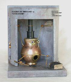 Steampunk Miniature Boiler Scene by FlightsofIndustry on Etsy, $285.00