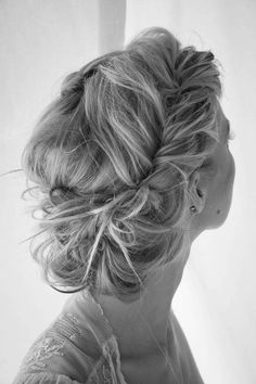 Messy Updo Hairstyle for Wedding