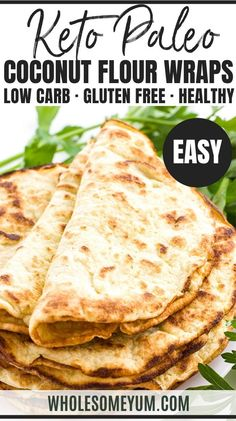 How To Make Cauliflower Tortillas - Recipe with 4 Ingredients - An easy cauliflower tortillas recipe with just 4 ingredients! These cauliflower wraps can bend without breaking. Perfect for low carb quesadillas! Keto Foods, Healthy Low Carb Recipes, Low Carb Dinner Recipes, Keto Recipes, Healthy Food, Dessert Recipes, Lunch Recipes, Soup Recipes, Coconut Flour Recipes Keto