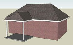 small entry porch for hip roof