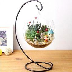 Hydroponique Plante Fleurs Suspendus Vase En Verre Contenant Maisonjardin Décoration Arrivée