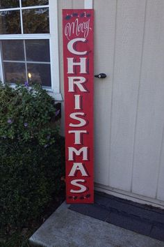 Large Merry Christmas Sign for Porch or Indoors, Hand Painted by, IzzyB Vintage Me