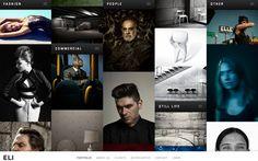 ELI #webdesign #inspiration #UI #Big Background Images #Flexible #Unusual Navigation #Photography #Portfolio #Black #Silver #White
