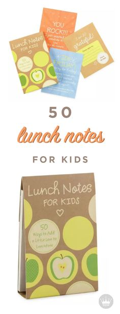 It's easy to pack a little love in your child's lunch with these fun, heartwarming notes. With room to personalize and write your own messages, there's no better way to show how much you care. Pick them up at Hallmark—your kids will love this easy, but thoughtful gesture!