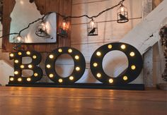 7 Craft Projects for Halloween | Lighted BOO Letters | CraftCuts.com