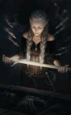 Sariel Uncovers Zora ART by Martina Fačková (PRO) Fantasy Illustrator at White Wizard Games Fantasy Kunst, Dark Fantasy Art, Fantasy Artwork, Fantasy Women, Fantasy Girl, Fantasy Princess, Character Portraits, Character Art, Fantasy Characters