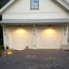 garage doors with windows