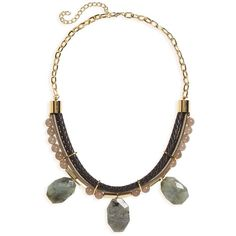 Women's Panacea Stone Collar Necklace ($68) ❤ liked on Polyvore featuring jewelry, necklaces, collar jewelry, boho style jewelry, stone charms, stone necklaces and bohemian style jewelry