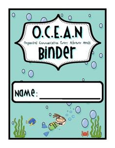This adorable binder cover is perfect for your class daily folders in any ocean-themed classroom.  There are four different covers available.  ...