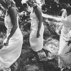 THESE MOMENTS // Stunning real bride Katie & her maids.  @beckrocchiphotography • Gown - 'Anya' + 'Diamon' train.@kwhbridal from @karenwillisholmes_melbourne • Venue – Lindenderry Estate - Red Hill • MUA & Hair– @bernicemakeupartist • Florist – @helloblossomsweddings • Celebrant - Megan Thompson