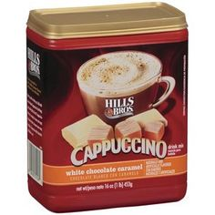 Hills Bros White Chocolate Caramel Cappuccino Drink Mix 16 OZ Pack of 6 * You can find out more details at the link of the image.