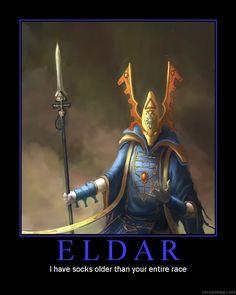 Yeah, 40K Eldar are like that...
