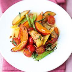 Kürbisgemüse aus dem Ofen - oven cooked pumpkin vegetables - from Küchengötter