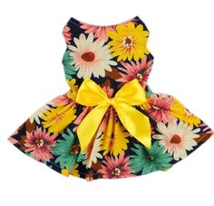 Fitwarm Pet Elegant Floral Ribbon Dog Dress Shirt Vest Sundress Clothes Apparel, Small ** You can find more details by visiting the image link. Small Dog Clothes, Puppy Clothes, Dog Dresses, Flower Dresses, Dog Shirt, Shirt Vest, Dress Shirt, Diy Dress, Dress Party