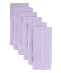 Take a look at this Lavender Waffle Kitchen Towel - Set of Six by Design Imports on #zulily today!