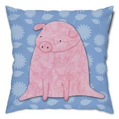 Precious Pig Throw Pillow