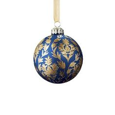 The Versailles Ornament Collection features a timeless and elegant holiday color palette of red, blue, silver and gold mouth blown glass ornaments that have been painted and embellished by hand with sequins, crystals, beads and faux pearls. A mix of sizes and designs create an individually acquired look. Hand-decorated, hand-painted, mouth-blown glass Spot clean only
