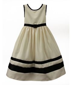 Look what I found on #zulily! Ivory & Black Audrey Dress - Toddler & Girls by Sugar Plum #zulilyfinds