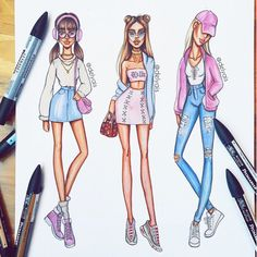 """2,513 Likes, 51 Comments - Fashion Illustrator & Artist (@delyais) on Instagram: """"Are you ready for the next season of #screamqueens? Who's your favorite Chanel?  #arianagrande…"""""""