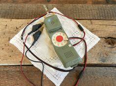 "Vintage Rotary ""Butt Set"" Lineman Telephone Line Checker"