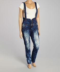 Love this Cloud Wash Distressed Skinny Jeans - Plus by VIP Jeans on #zulily! #zulilyfinds