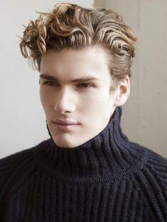 Curly hairstyle for medium length hair