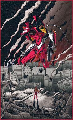 Neon Genesis Evangelion Tribute Poster - Dairon Raphael: