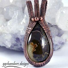 Antiqued Copper and Ammonite Pendant