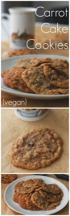 Carrot Cake Cookies - Two City Vegans Delicate and pillowy! These cookies will tickle your taste buds!