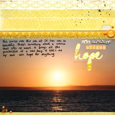 The Sunshine Brings Hope layout by Jennifer Grace
