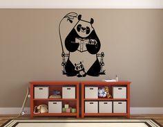 Panda Wall Decal Panda Family Sticker Art Decor Mural love family • Boys bedroom • Playroom vinyl wall decal • Wildlife • Cute Panda Sticker