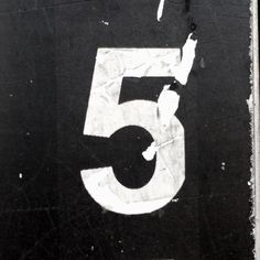 5 No. 3 #5, #number, #thingamajig, #typography