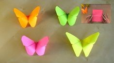New origami paper flowers tutorial diy crafts ideas Origami Owl, Origami Butterfly Easy, Origami Star Box, Origami Fish, Easy Origami, Origami Heart, Origami Animals, Origami Design, Paper Butterflies