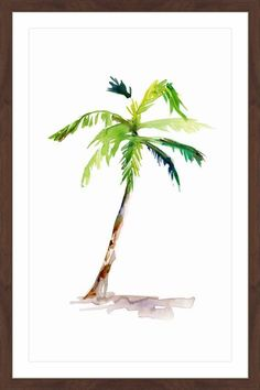 Watercolor Palm #watercolorarts